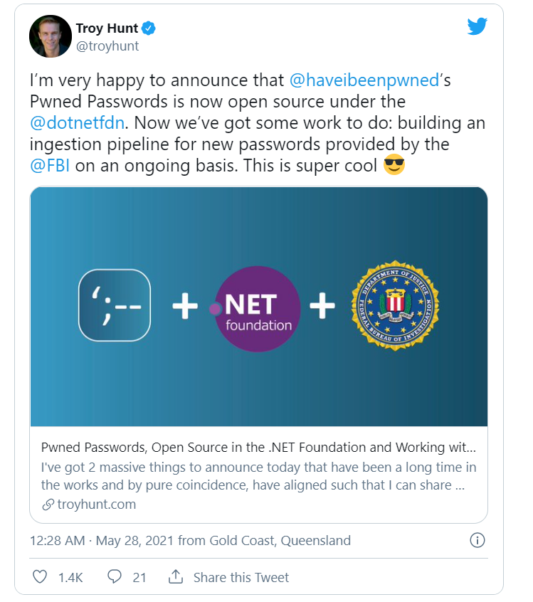 FBI, haveibeenpwned, fbi haveibeenpwned, fbi to share passwords with haveibeenpwned, have i been pwned password, have i been pwned meaning, have i been pwned facebook, have i been pwned what to do, have i been hacked, is haveibeenpwned safe, have i been pwned open source, fbi have i been pwned reddit, fbi have i been pwned forum, Computer Security, computers, cyber news, cyber security news, cyber security news today, cyber security updates, cyber updates, cyberattack, cyberattacks, cybercrime, cybercriminals, cybersafe news, cybersecurity, dark web, data breach, Data leak, data stealing malware, DDoS, Distributed Denial of Service, hacker news, Hacks, Infected Installer, information security, InfoSec, infosec news, linux, Mac, Malicious ad campaign, Malvertising, Malware, malware removal, Mobile Security, network security, online security, personal data exposed, Privacy, ransomware, ransomware attack, ransomware gang, ransomware group, ransomware malware, ransomware news, RCE, Remote Access Trojan, Remote Code Execution, remote desktop app, remote desktop app virus, remote desktop malware, rootkit, Security, smartphone, software vulnerability, spyware, Supply Chain, support, system update app, system update malware app, tech, tech news, tech support, tech updates, technical support, trojan, virus, virus removal, Vulnerabilities, Vulnerability, Web Security, what is ransomware